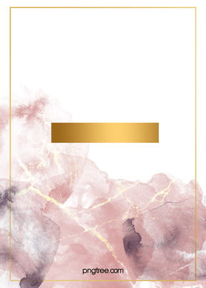玫瑰 金 晕染 金箔 边框 水彩 背景 , 水彩, 金箔, 玫瑰金 पृष्ठभूमि छवि