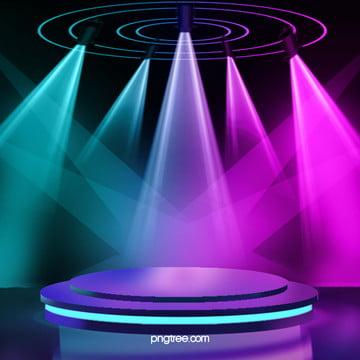 3 d抽象幾何学ネオン発光舞台背景 , 美しくスタイリッシュな光の効果, 効果ジオメトリ, ネオンライトステージ 背景画像