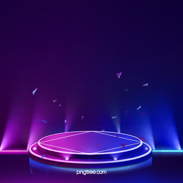 3 d抽象幾何学ネオン発光舞台背景 , 美しくスタイリッシュな光の効果, 幾何学, ネオンライトステージ 背景画像