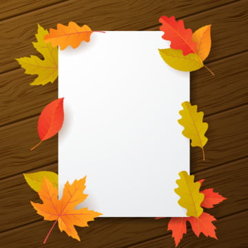 白紙の用紙と秋の葉のベクトル図と秋の背景 , 抄録, 広告, 秋 背景画像