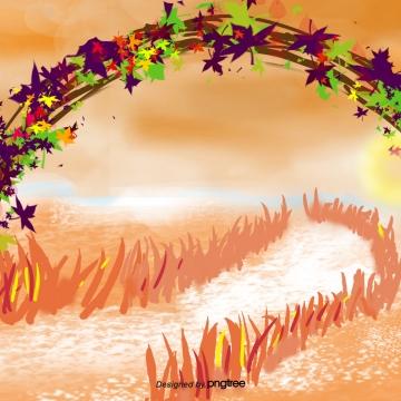 cây vàng lá mùa thu , Mùa Thu., Golden, Cây Ảnh nền