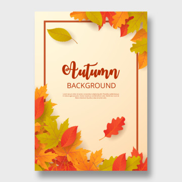 mẫu vector mùa thu cho poster mùa thu , Abstract, Quảng Cáo, Mùa Thu Ảnh nền