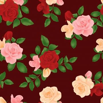 盛開的玫瑰花無縫模式 , 模式, 無縫的, 夏天 背景圖片