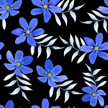 파란색 hepatica 꽃 원활한 패턴 , 봄, 꽃, 모드 배경 이미지