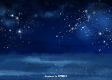 blue starry night sky starlight, Blue, Starry Sky, Night Sky Background image