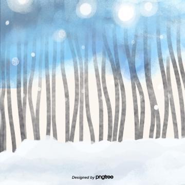 कार्टून सर्दियों बर्फीली जंगल दृश्य , मौसम, Winter, Snowing पृष्ठभूमि छवि