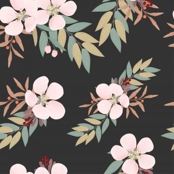 櫻花和漿果無縫模式 , 背景, 模式, 花的 背景圖片