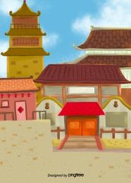 中式複古建築古建築 , 中國風格, 年份, 體系結構 背景圖片