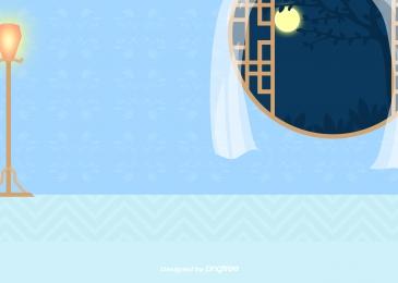 estilo chinês moldura de janela de madeira redonda cortina lua lâmpada post, Estilo Chinês, Madeira, Rodada Imagem de fundo