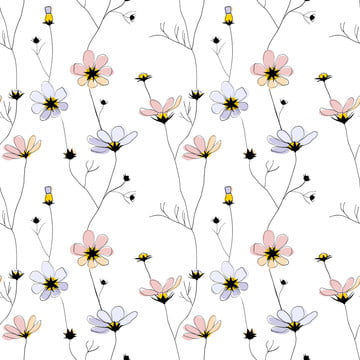delicate flowers seamless pattern on white , Weed, Grass, Garden Background image