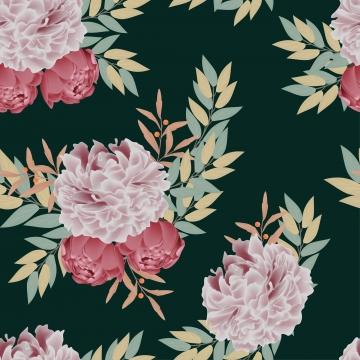 與牡丹花束的花卉無縫的樣式 , 花束, 背景, 花的 背景圖片
