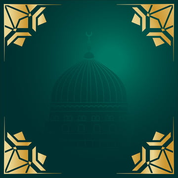 green background of arabic islam with geometric decorations , Background, Octagon, Pattern Background image