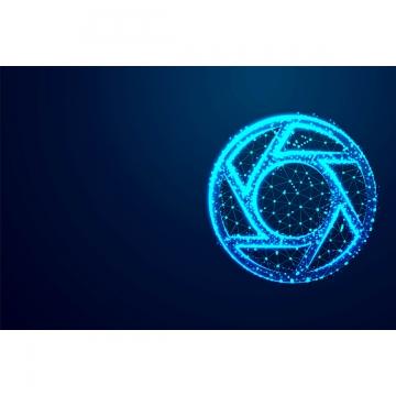 объектив камеры значок абстрактный низкополигональная каркасные конструкции backgroun , многоугольник, треугольник, вектор Фоновый рисунок