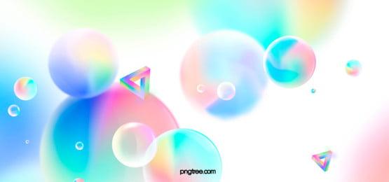 馬卡龍漸變幾何背景, 漸變幾何, 馬卡龍色, 球體 背景圖片