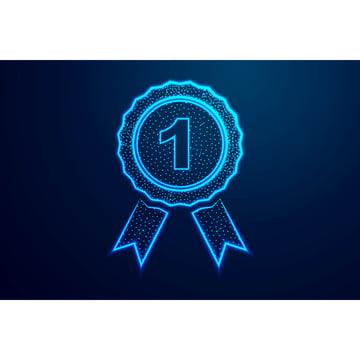 huy chương số một biểu tượng giải thưởng thiết kế khung dây trừu tượng , Thấp, Tụ, Công Nghệ Ảnh nền