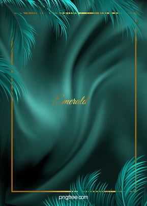 minimalist emerald palm silk wedding background , Logam, Tekstur, Palm imej latar belakang