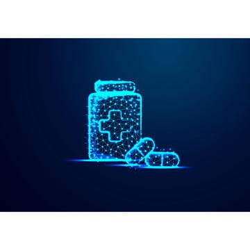 गोलियाँ गोलियाँ और बोतल सार कम पाली त्रिकोण डॉट लाइन बहुभुज , कम, फार्मासिस्ट, बहुभुज पृष्ठभूमि छवि