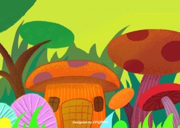 植物草草蘑菇群, 植物, 草, 草 背景圖片