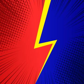 linha de velocidade de fundo vermelho e azul de pop art ilustração de raios retrô de quadrinhos , Abstract, Arte, Fundo Imagem de fundo