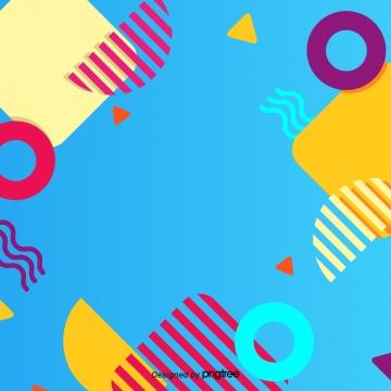 流行藍色波浪線 , 流行風格, 藍色, 黃色 背景圖片