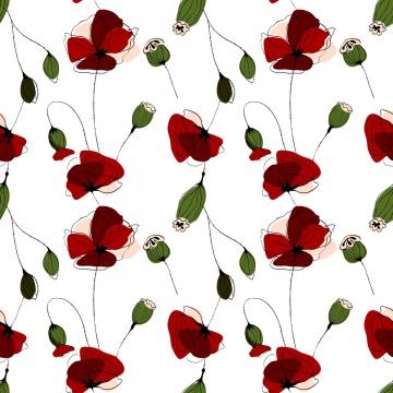 pola bunga poppy lancar corak , Poppy, Musim Panas, Bunga imej latar belakang