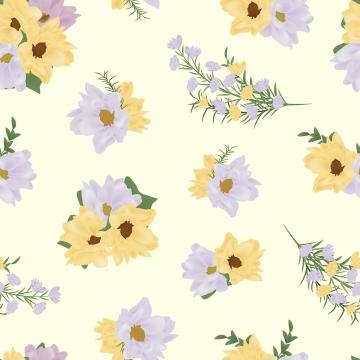 紫色黃色花無縫圖案 , 無縫的, 背景, 模式 背景圖片