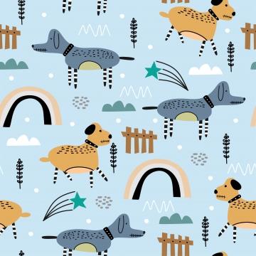 बच्चों के लिए स्कैंडिनेवियाई प्यारा कुत्ता ड्राइंग , पृष्ठभूमि, चित्रण, प्रिंट पृष्ठभूमि छवि