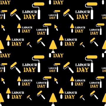 seamless pattern labor day work tool black background , Movement Labour, Happy Work, Flat Design Media Labor Day Background image