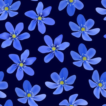 파란색 hepatica 꽃과 원활한 패턴 , 봄, 꽃, 모드 배경 이미지