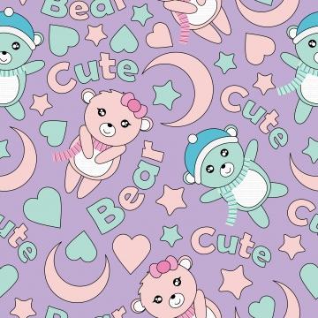 प्यारा बच्चा भालू चाँद और सितारों के साथ सहज पैटर्न बच्चे के जन्मदिन वॉलपेपर डिजाइन स्क्रैप पेपर और बच्चे कपड़े कपड़े पृष्ठभूमि के लिए बैंगनी पृष्ठभूमि कार्टून चित्रण पर , आराध्य, कला, पृष्ठभूमि पृष्ठभूमि छवि