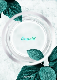 simple emerald leaves wedding stereo ring background , Metal, Texture, Leaf Background image