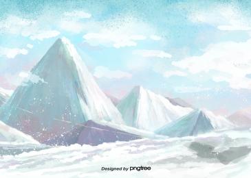 gunung berapi salju di pergunungan salji musim sejuk, Winter, Big Chill, Digunakan Terutamanya imej latar belakang