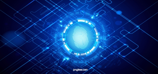 tech fingerprint line big data background, Fingerprint, Business Affairs, Luminous Efficiency Background image