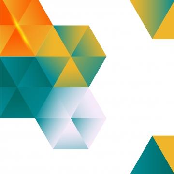 矢量彩色和白色背景與六角形的抽像圖案 , 六邊形, 背景, 矢量 背景圖片
