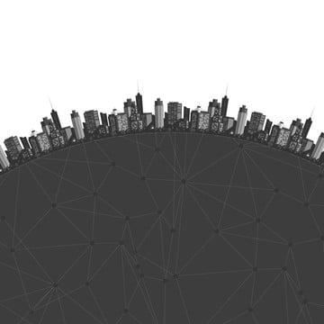 वेक्टर आधुनिक शहर सिटीस्केप सिल्हूट पृष्ठभूमि , शहर, वेक्टर, काले पृष्ठभूमि छवि