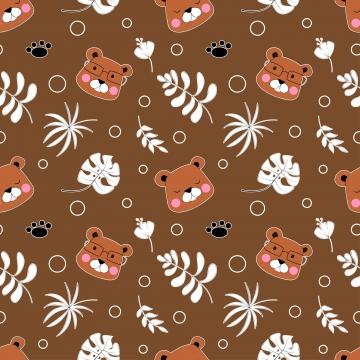 फैब्रिक बेबी कपड़े बैकग्राउंड टेक्सटाइल रैपिंग पेपर और अन्य सजावट के लिए प्यारा भालू पैटर्न के साथ वेक्टर सहज पैटर्न , कार्टून, भालू, वस्त्र पृष्ठभूमि छवि