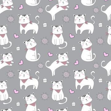 फैब्रिक बेबी कपड़े बैकग्राउंड टेक्सटाइल रैपिंग पेपर और अन्य सजावट के लिए प्यारा बिल्ली पैटर्न के साथ वेक्टर सहज पैटर्न , पशु, पैटर्न, सुंदर पृष्ठभूमि छवि