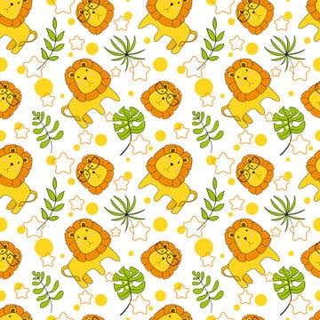 कपड़े बच्चे के लिए प्यारा शेर पैटर्न के साथ वेक्टर निर्बाध पैटर्न पृष्ठभूमि कपड़ा कपड़ा रैपिंग पेपर और अन्य सजावट , सुंदर, शेर, चित्रण पृष्ठभूमि छवि