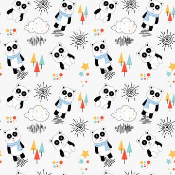 फैब्रिक बेबी कपड़े बैकग्राउंड टेक्सटाइल रैपिंग पेपर और अन्य सजावट के लिए प्यारा पांडा पैटर्न के साथ वेक्टर सहज पैटर्न , पांडा, निर्बाध, पशु पृष्ठभूमि छवि