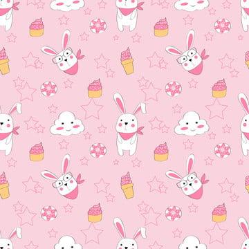 布の赤ちゃんの服の背景テキスタイル包装紙やその他の装飾のかわいいウサギピンクパターンとシームレスなパターンベクトル , 背景, キュート, ピンク 背景画像