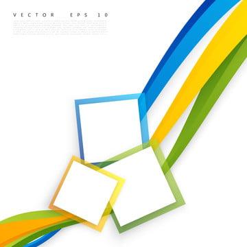 fundo abstrato branco de vetor com cor brochur design ondulado , Banner, Técnico, Square Imagem de fundo