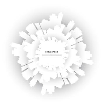 वेक्टर सफेद कागज सिटीस्केप सिल्हूट बैनर , शहर, वेक्टर, आइकन पृष्ठभूमि छवि