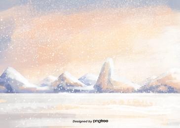 शीतकालीन हिमपात बर्फ पर्वत बर्फ के टुकड़े, Winter, Snowing, बर्फ के पहाड़ पृष्ठभूमि छवि