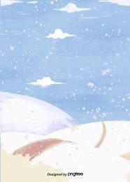 Áp phích bông tuyết mùa đông Winter Snowing Snowflake Hình Nền