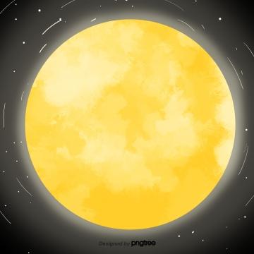 पीला चमकता हुआ चाँद , चाँद, प्रकाश उत्सर्जक, पीले पृष्ठभूमि छवि