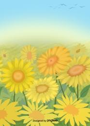 yellow sunflower flower  bird  animal gradient , Yellow, Sunflower, Flower Background image