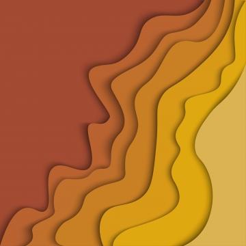 紙と抽象的な秋の季節波背景カット図形 , 紙, カット, 秋 背景画像