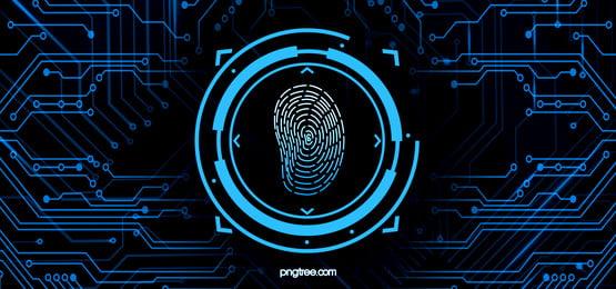 big data fingerprint integration background, Fluid Gradient, Circuit Board, Circuit Line Background image
