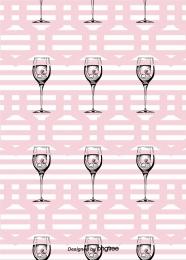 黑色粉色圖案玻璃杯背景 , 創意, 簡約, 圖形 背景圖片