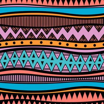 カラフルな民族部族の抽象的なデザインのシームレスパターン , 背景, パターン, 製織 背景画像